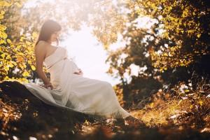 Těhotenské fotografování, těhulka